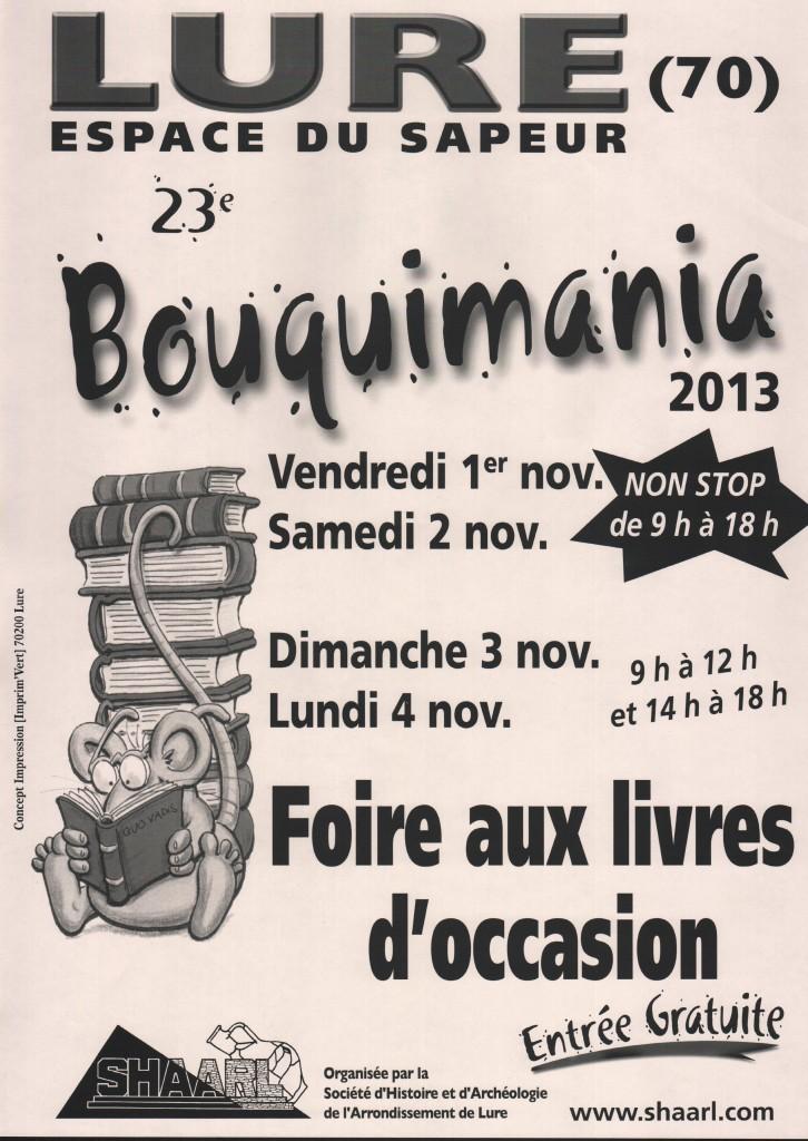 Affiche BOUQUIMANIA 2013 - A3
