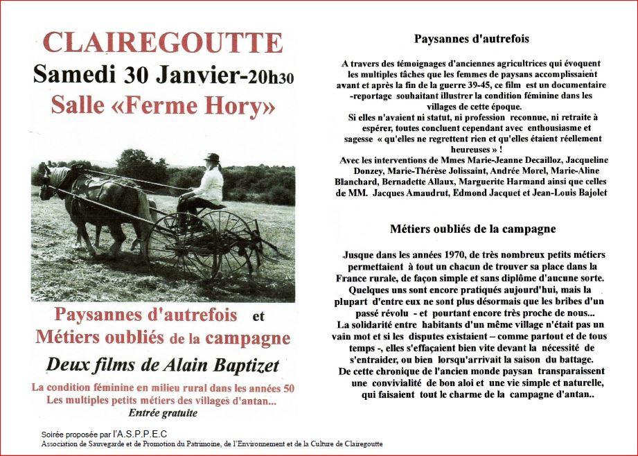 Conférence à Clairegoutte / asppec